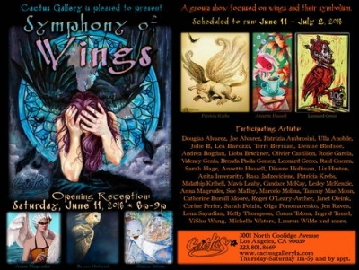 a symphony of wings @ cactus gallery